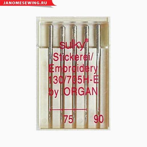 Иглы Organ вышивальные №75(4), 90, 5 шт.