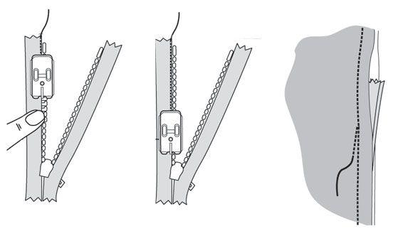 Лапка Husqvarna для вшивания потайной молнии