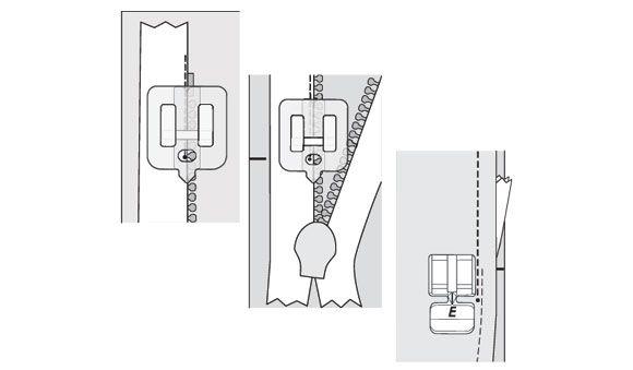 Лапка Husqvarna для вшивания потайной молнии прозрачная