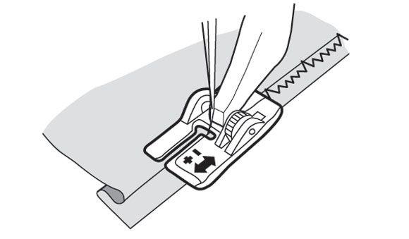 Лапка Husqvarna регулируемая для потайной подгибки