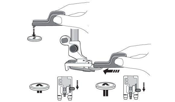 Лапка Husqvarna для пришивания пуговиц с держателем