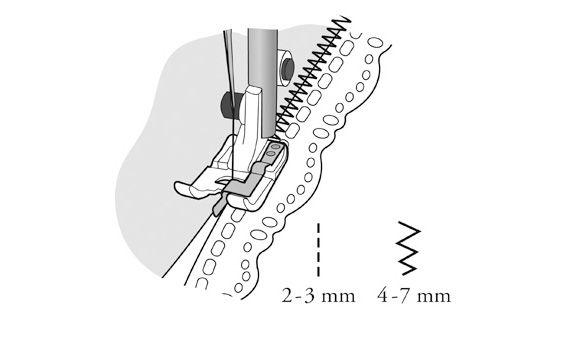 Лапка Husqvarna для соединительного шва
