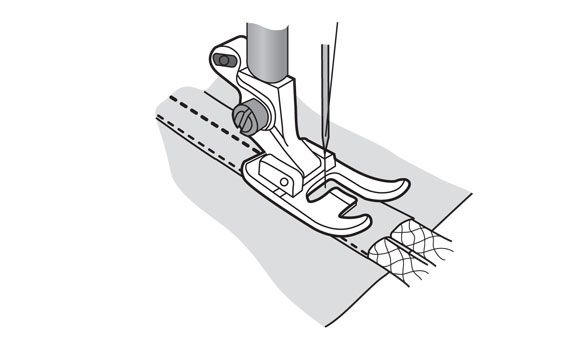 Лапка Husqvarna для вшивания двойного шнура