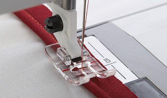 Лапка Husqvarna для вшивания канта прозрачная