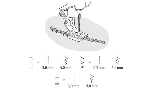 Лапка Husqvarna для бисера 4 мм