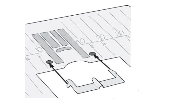 Лапка Husqvarna для 3 защипов со специальной пластиной