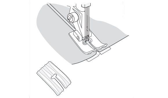 Лапка Husqvarna для 3 защипов со специальной пластиной (2)