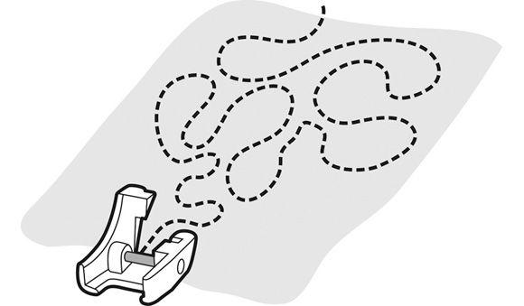 Лапка Husqvarna для стёжки открытая прозрачная